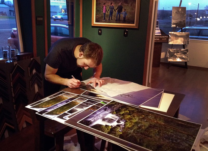 gavin seim signing prints Open Editions
