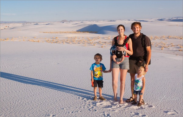 The Seim Family White Sands NM2 600x386 Super Camping: How A Photographer & His Family Spend Months Road Tripping