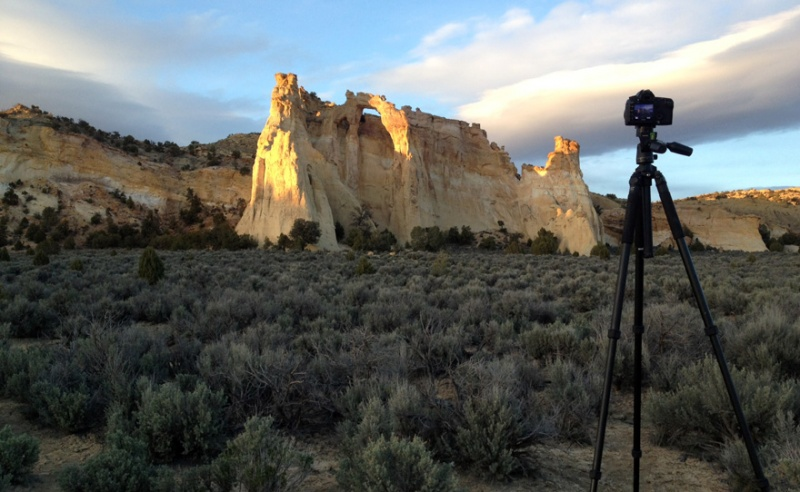 Beautiful sunset light in Grand Staircase Nat Monument. Wait till you see the result.