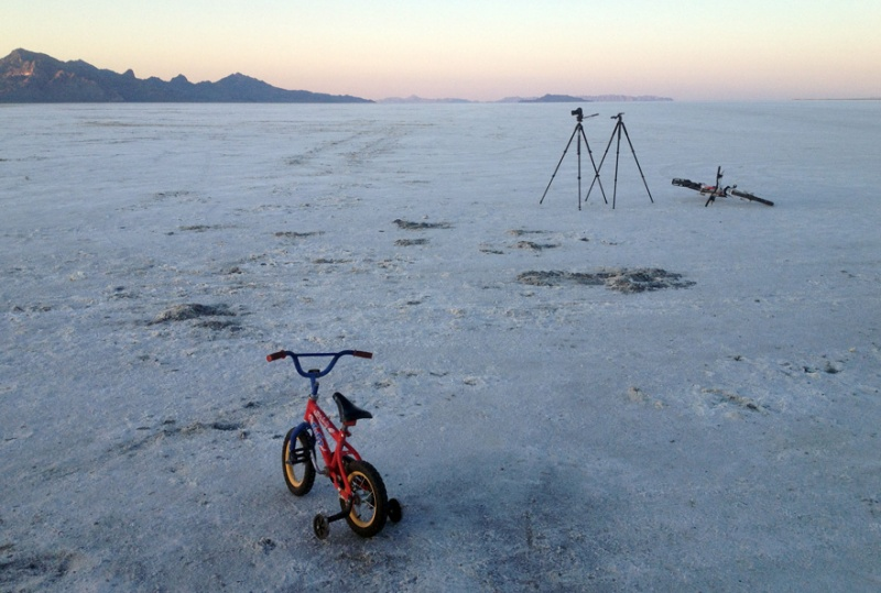 An evening at the Salt Flats. It's a stark place. but grand none the less.