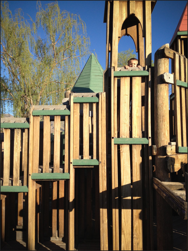 We found the motherload of playgrounds in Alamogordo. I've seen this style before, but this one was HUGE. The kids loved it.