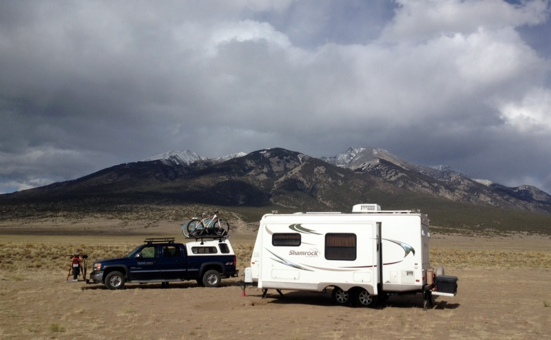 Our camp near Great Sand Dunes NP. Free of course. Location is listed in Maps.