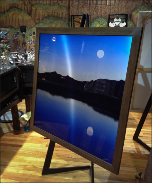 The 40x40 master of Sliver Moon Blues on display at an exhibit last year.