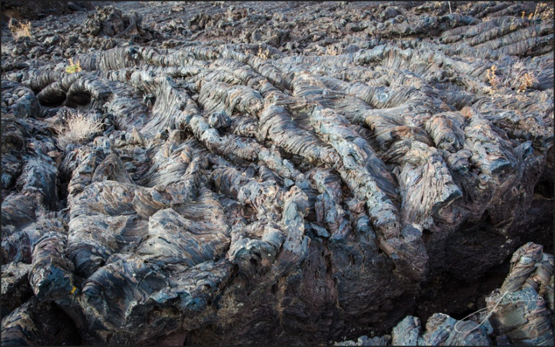 Stunning textural lava flows at Craters of The Moon.