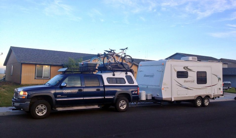 Loaded and ready. We did not hot the road tille about 6PM, but we drove none the less making it to a wal mart parking lot on Pendleton Oregon the first night. The secenmey will get better ;)