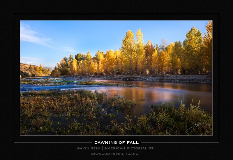 Dawning of Fall - Bigwood River Idaho - Gavin Seim