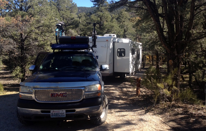A free camp up in Great Basin National park. A little hidden gem in Nevada that's quite stunning.